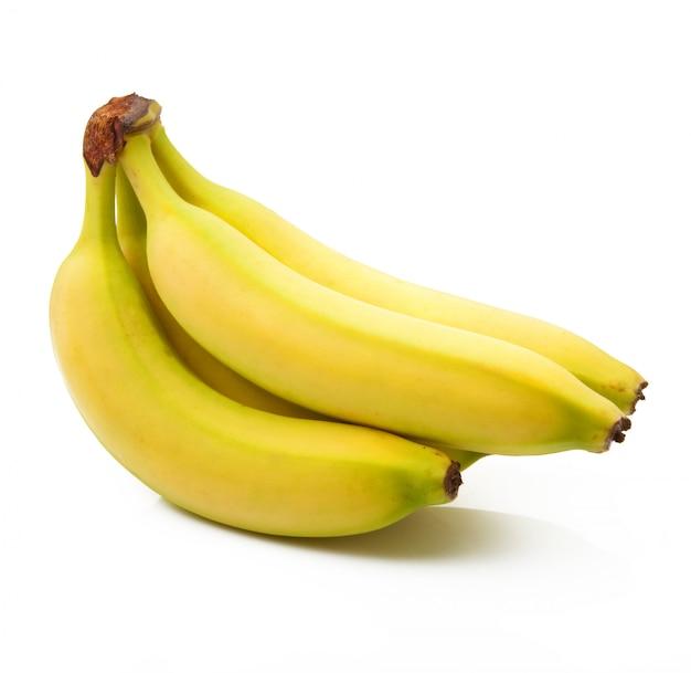 Bananes sur fond blanc