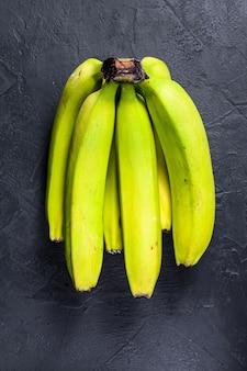 Bananes vertes. vue de dessus. fruit exotique