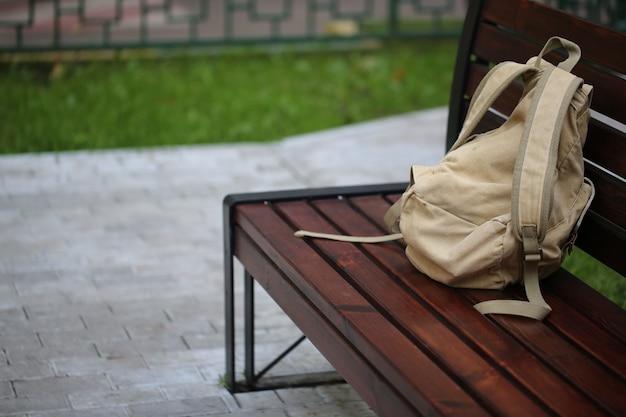 Banc sac à dos