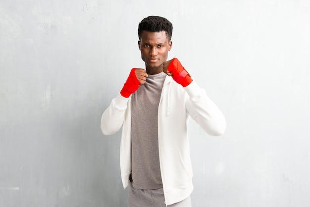 Bandages de boxe sportmanin afro-américain