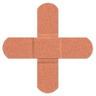 Bandages croix orange