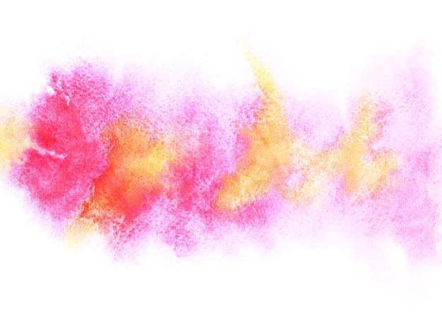 Bande aquarelle colorée avec des taches. abstrait. élément vif pour votre conception