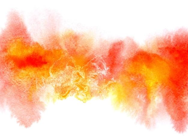 Bande aquarelle diffluent colorée avec des taches. abstrait. élément vif pour votre conception
