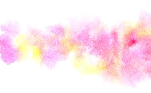Bande aquarelle diffluente colorée. abstrait vif de différentes couleurs