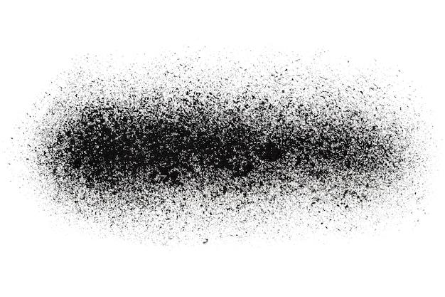 Bande pulvérisée noire isolée sur fond blanc - illustration raster