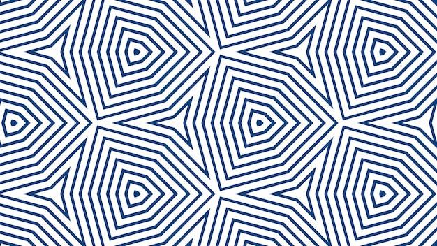 Bandes droites simples de ligne bleue de différentes formes de conception sur un fond blanc