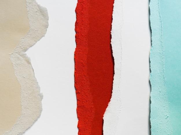 Bandes de papier colorées