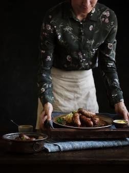 Bangers & mash food recette idée