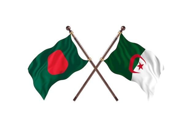 Bangladesh contre l'algérie drapeaux contexte