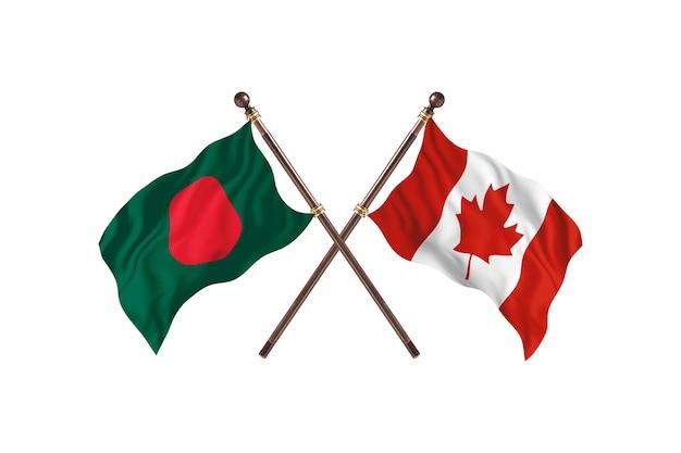 Bangladesh contre cabo verde flags background