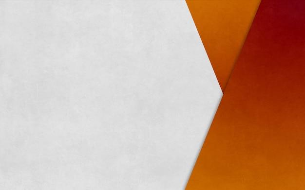 Bannière d'affaires de fond de texture de papier en boîte triangle orange vif