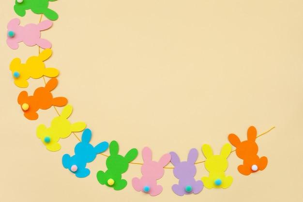 Bannière bunny easter garland. shower de bébé guirlande de lapin. 1ère bonne fête de dirthday.