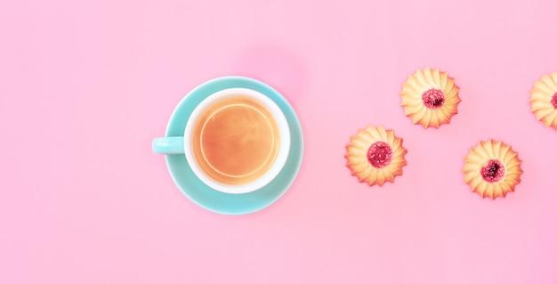 Bannière de cookies et de café