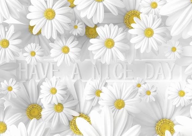 Bannière créative, bonne idée de journée, minimaliste moderne, rendu 3d