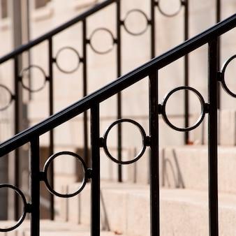 Bannière décorative sur l'escalier à boston, massachusetts, usa