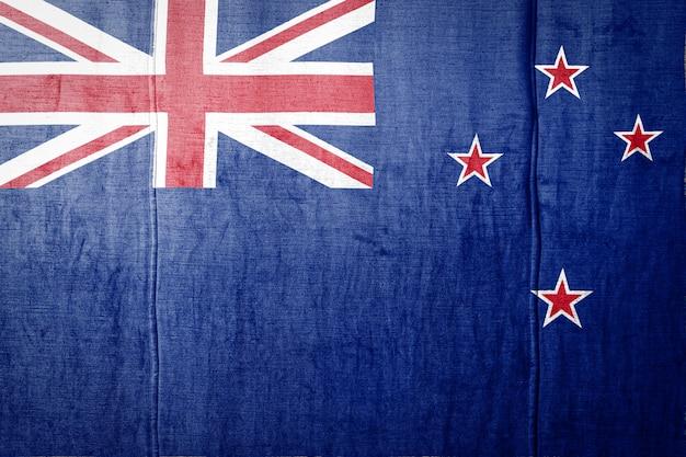 Bannière de drapeau sur la texture du tissu.