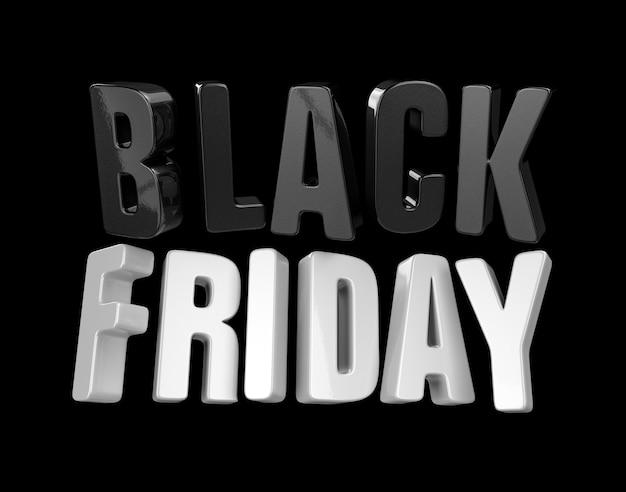 Bannière du vendredi noir. rendu 3d