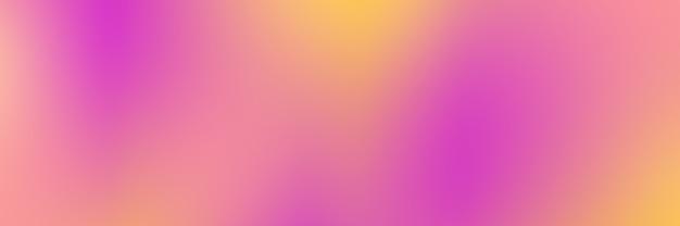Bannière avec fond dégradé de couleurs jaune et rose lisse
