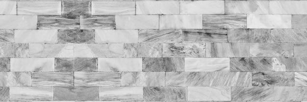 Bannière horizontale en brique blanche et grise
