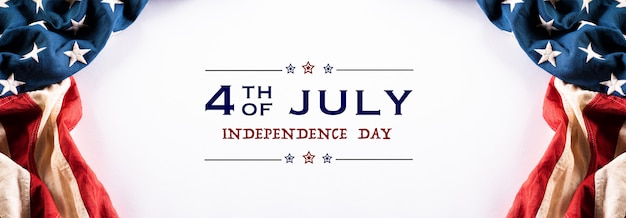 Bannière de joyeux jour de l'indépendance