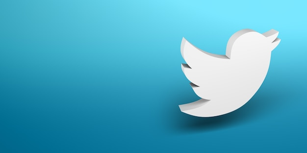 Bannière de logo blanc de médias sociaux