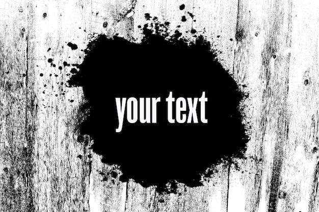 Bannière noire sur fond texturé noir et blanc. publicité. trait inégal sur le fond blanc. photo de haute qualité