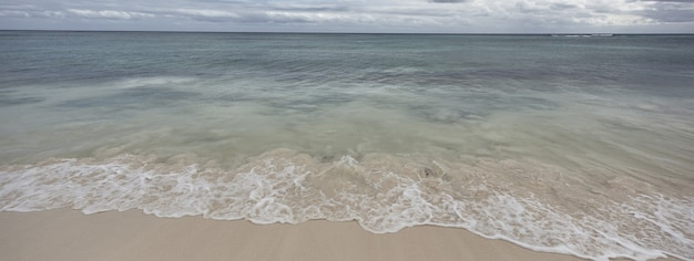 Bannière de plage des caraïbes à xpu ha au mexique