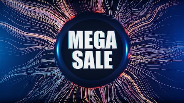 Bannière de promotion de titre de réduction de méga vente du vendredi noir