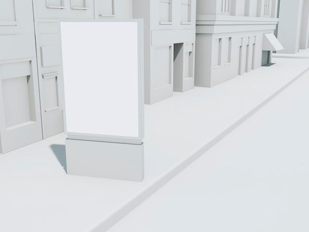Bannière de rue 3d simulée