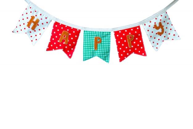 Bannière de tissu coloré