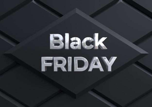Bannière de vendredi noir élégant