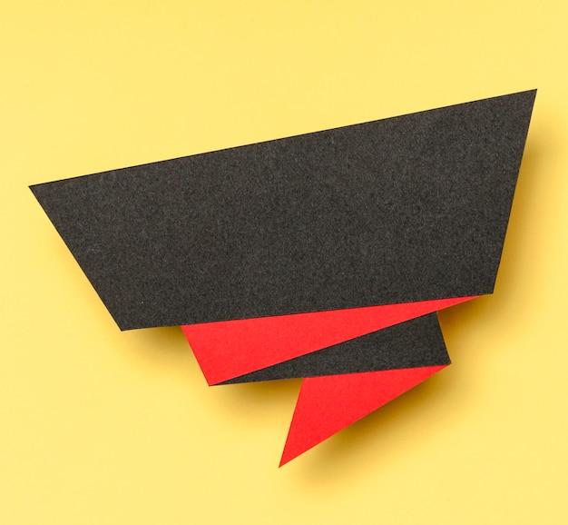Bannière de vente abstraite sur fond jaune