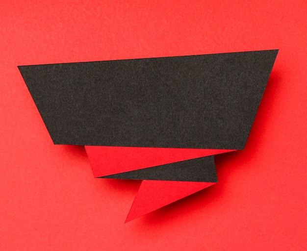 Bannière de vente abstraite noir et rouge
