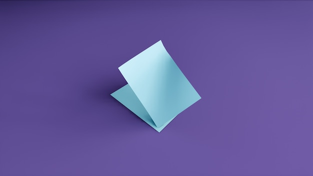 Bannière vierge sur fond violet