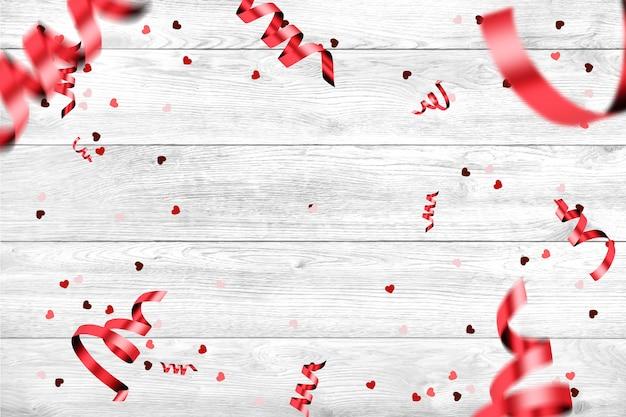 Bannière web festive heureuse saint-valentin.