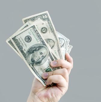 Banque de dollar de paiement de main