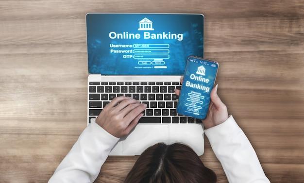 Banque en ligne pour la technologie de l'argent numérique