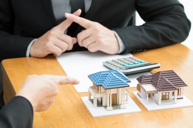 Les banques refusent les prêts pour acheter un logement. concept immobilier
