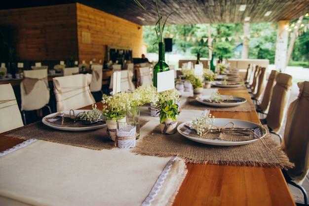 Banquet de mariage décorations de mariage rustique