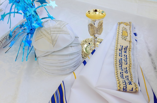 Bar mitzhvah symbole religieux juif châle de prière - talit, symbole religieux juif