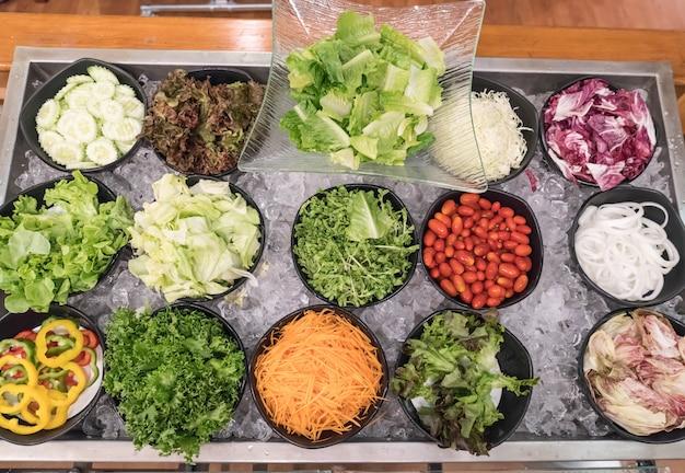 Bar à salade mixte