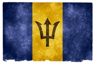 Barbados flag grunge amérique