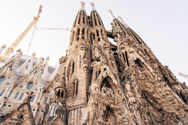 Barcelone espagne décembre la façade de la sagrada familia de noël à barcelone