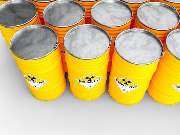 Baril jaune radioactif