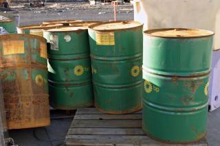 Barils de pétrole vert