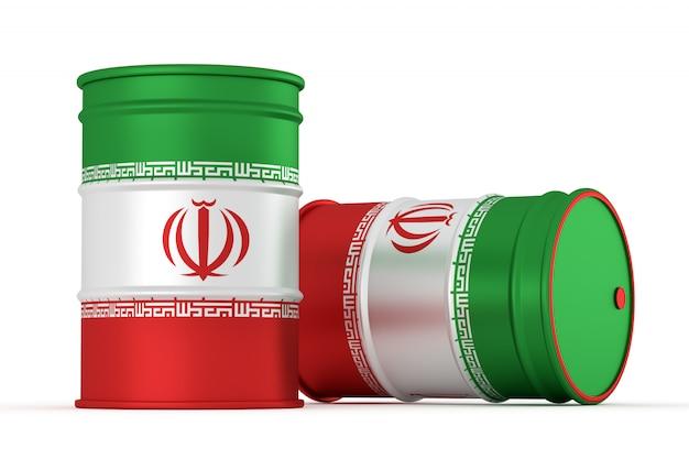 Barils de style huile lourde iran
