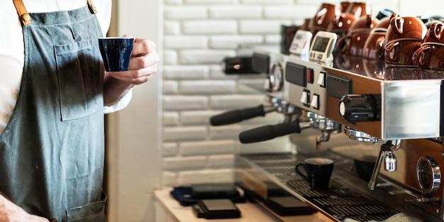 Barista prepare concept de commande de café
