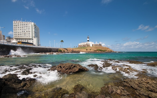 Barra lighthouse point touristique de salvador bahia brésil.
