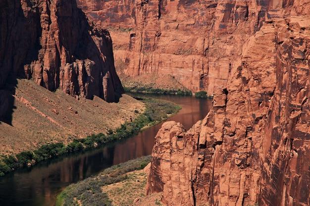 Barrage sur le fleuve colorado en arizona, paige