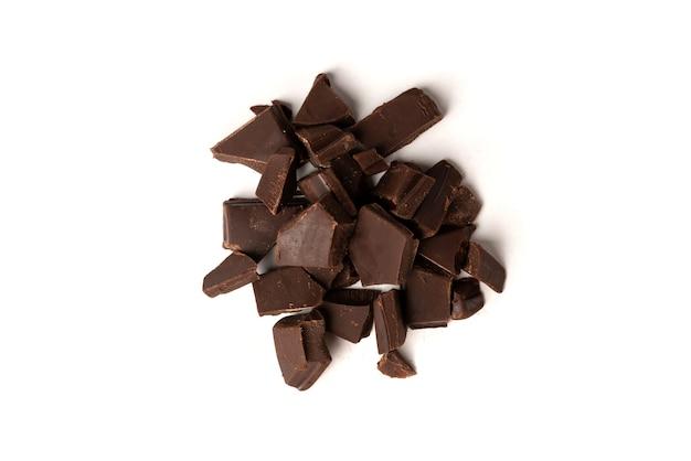 Barre de chocolat isolé sur fond blanc.
